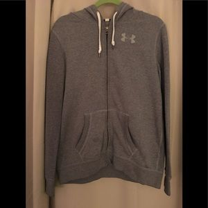 Under Armour Hooded Zippered sweatshirt sz L